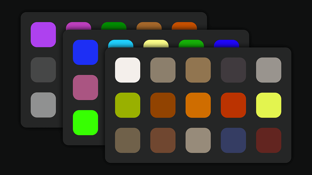 Image of Ambience Kits Features Included Color Palettes for Web.