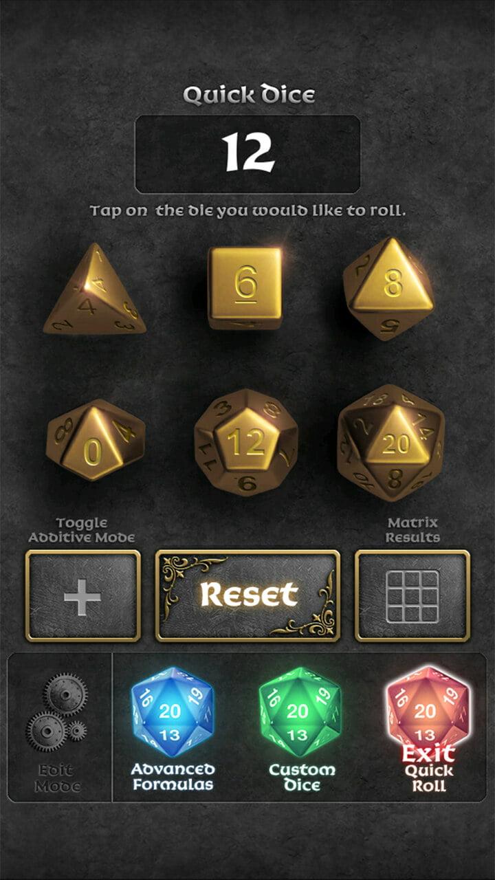 Image of DMDJ Quick dice throw.