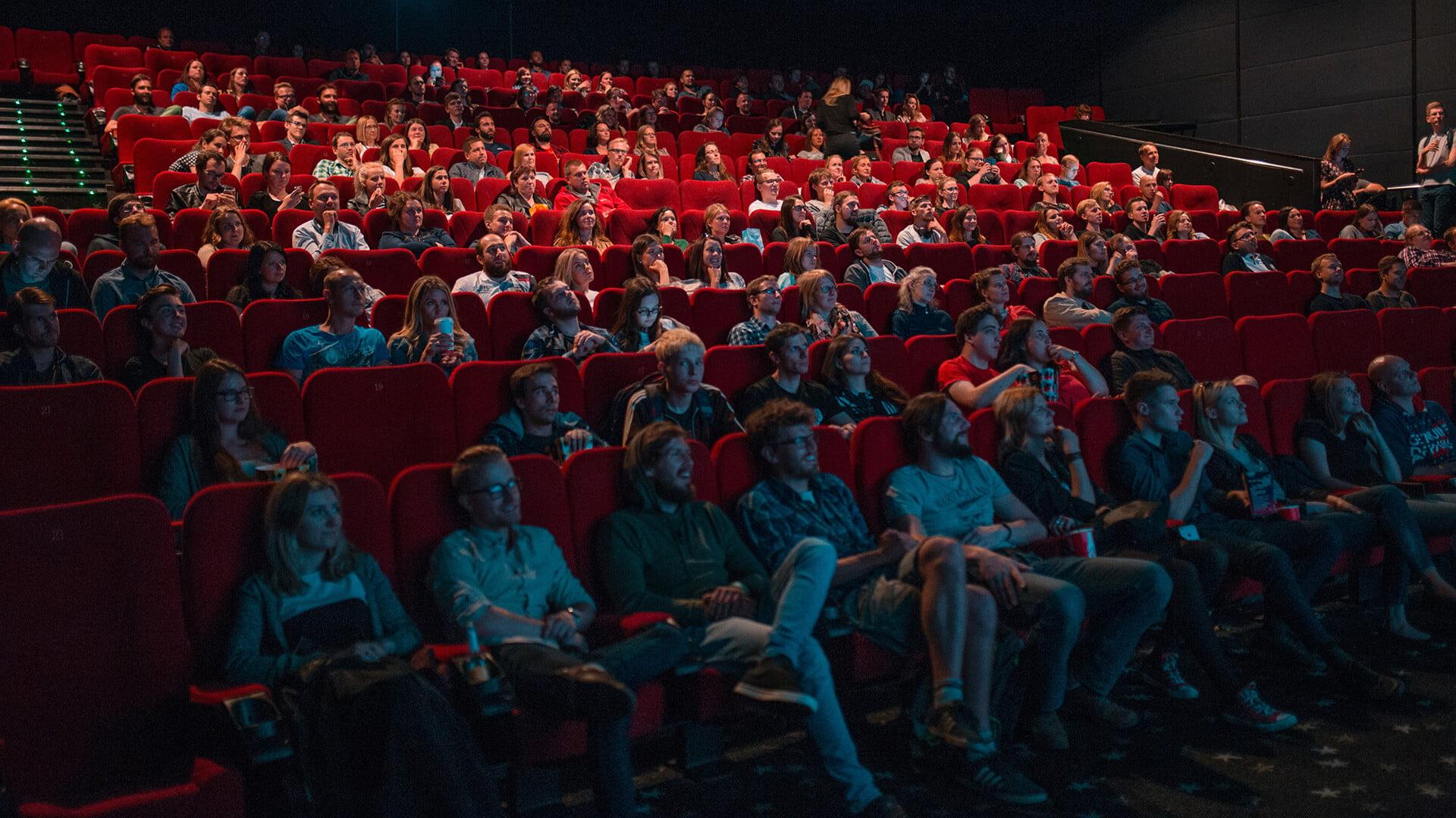 Image of People watching cinema.