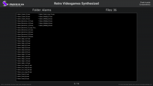 Retro Videogames Synthesized - Contents Screenshot 03