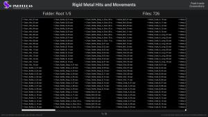 Rigid Metal Hits and Movements - Contents Screenshot 01