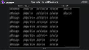 Rigid Metal Hits and Movements - Contents Screenshot 05
