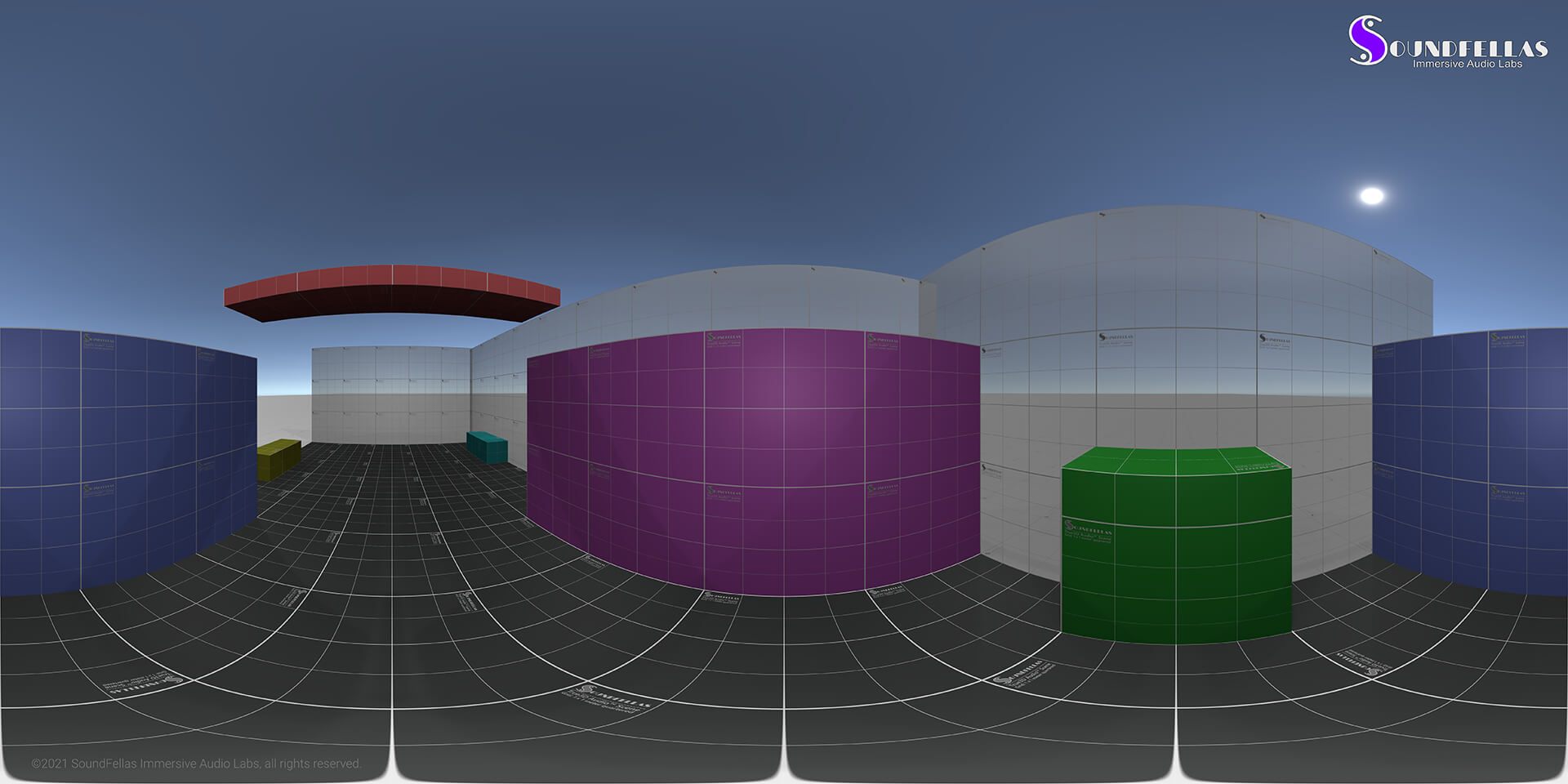 Image of Science Research Facilities and Labs Server Room Equirectangular Projection Web.