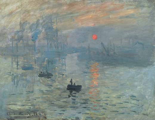 FocusBlur example of painting Impression - Soleil levant by Claude Monet